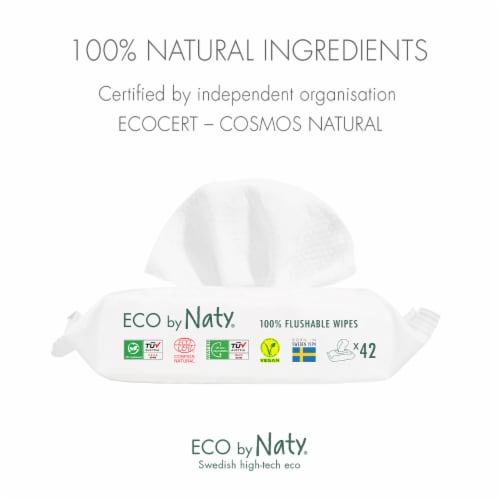 Eco by Naty Flushable Unscented Baby Wipes 504 Count Perspective: right