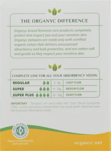 Organyc Regular Bio Based Compact Tampons Perspective: right