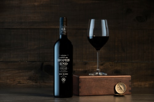 Hopes End Red Blend Red Wine Perspective: right