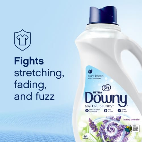 Downy Nature Blends Honey Lavender Liquid Fabric Conditioner Perspective: right