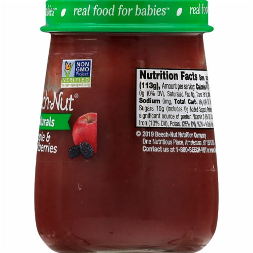 Beech-Nut Naturals Apple & Blackberry Stage 2 Baby Food Perspective: right