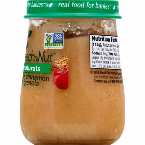 Beech-Nut Naturals Apple Cinnamon & Granola Stage 2 Baby Food Perspective: right