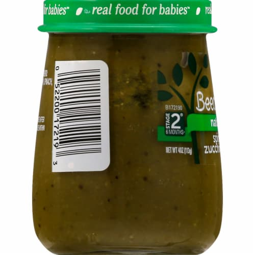 Beech-Nut Naturals Spinach Zucchini & Peas Stage 2 Baby Food Perspective: right