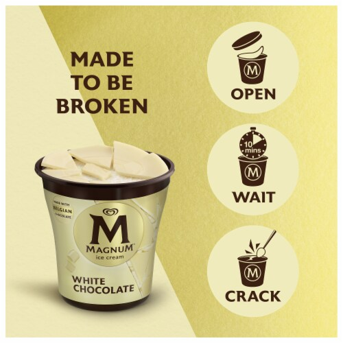 Magnum White Chocolate Vanilla Ice Cream Perspective: right