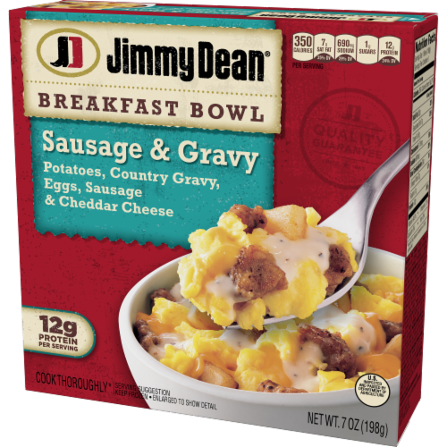 Jimmy Dean® Country Gravy Sausage Cheddar Potatoes & Egg Breakfast Bowl Frozen Entree Perspective: right