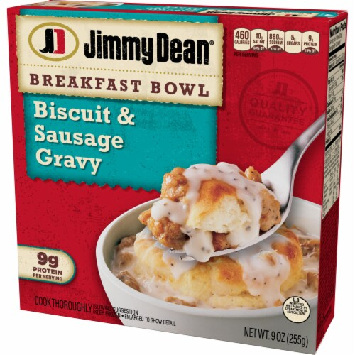 Jimmy Dean Biscuit and Sausage Gravy Breakfast Bowl Perspective: right