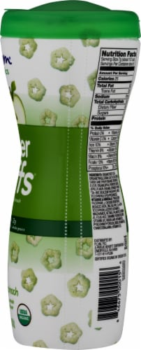 Plum Organics Super Puffs Apple with Spinach Cereal Snack Perspective: right