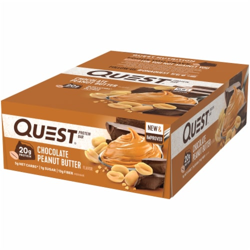 Quest Chocolate Peanut Butter Bar Perspective: right