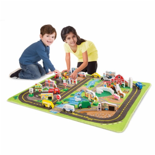 Melissa & Doug® Deluxe Road Rug Play Set Perspective: top