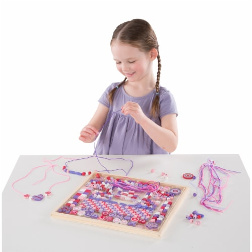 Melissa & Doug® Deluxe Sparkle & Shimmer Wooden Bead Kit Perspective: top
