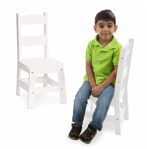 Melissa & Doug® Wooden Chairs - White Perspective: top