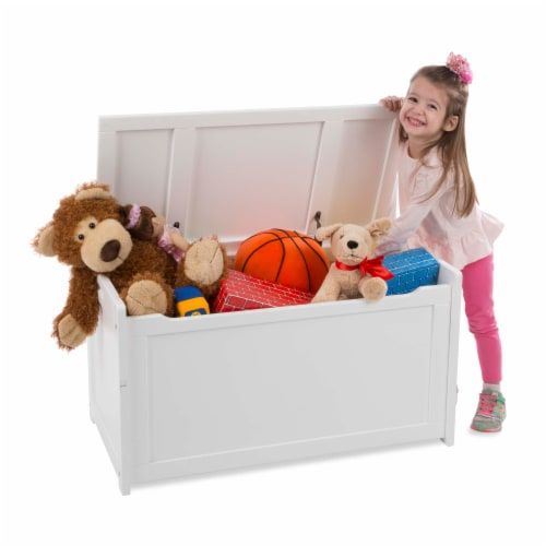 Melissa & Doug® Wooden Toy Chest - White Perspective: top