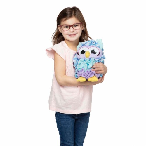 Melissa & Doug® Created by Me! Owl Accent Pillow - Purple/Blue Perspective: top