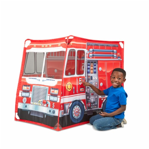 Melissa & Doug® Fire Truck Play Tent Perspective: top