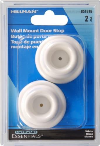 Hillman Wall Mount White Door Stop Perspective: top