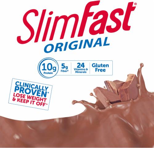 SlimFast Original Creamy Chocolate Shake Mix Perspective: top