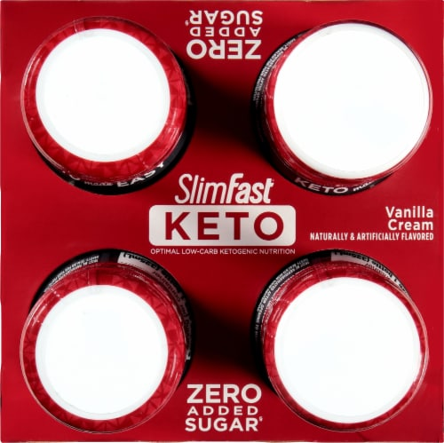 SlimFast Keto Vanilla Cream Ready to Drink Meal Replacement Shakes Perspective: top