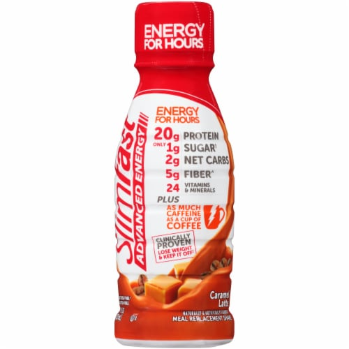 SlimFast Advanced Energy Caramel Latte Flavor Meal Replacement Shake Perspective: top