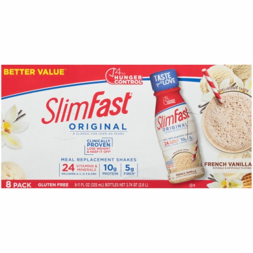 SlimFast Original French Vanilla Meal Replacement Shakes Perspective: top