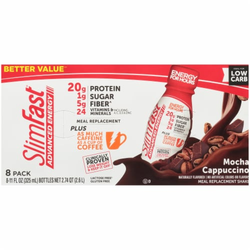 SlimFast Advanced Energy Mocha Cappuccino Meal Replacement Shake Perspective: top