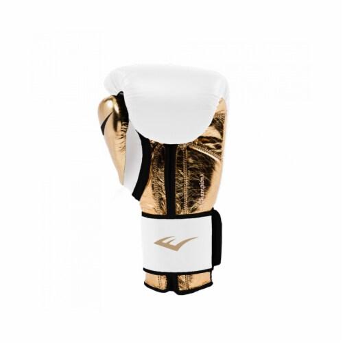Everlast P00000722 Women's 12 Ounce Powerlock Hook & Loop Training Gloves, White Perspective: top