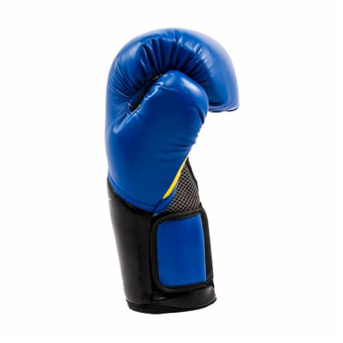 Everlast Pro Style Elite Workout Training Boxing Gloves Size 12 Ounces, Blue Perspective: top