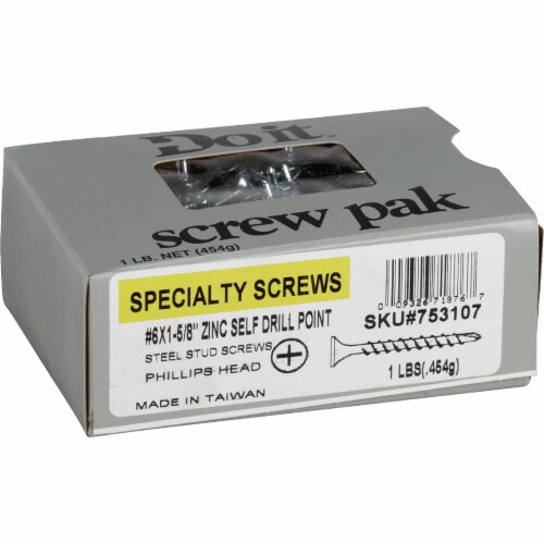 Do it #6 x 1-5/8 In. Fine Thread Self-Drilling Drywall Screw (1 Lb. Box) 753107 Perspective: top
