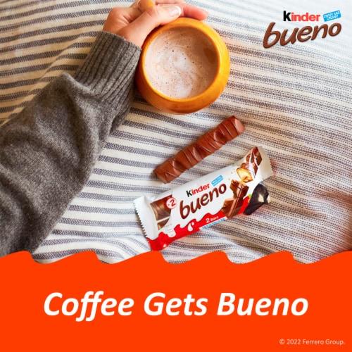 Kinder Bueno Crispy Creamy Chocolate Bars Perspective: top
