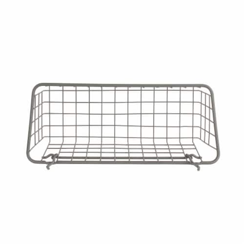 Spectrum Pegboard Basket and Hook Station - Industrial Gray Perspective: top