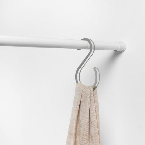 Spectrum Cora Closet Rod Hook - Gray/Clear Perspective: top