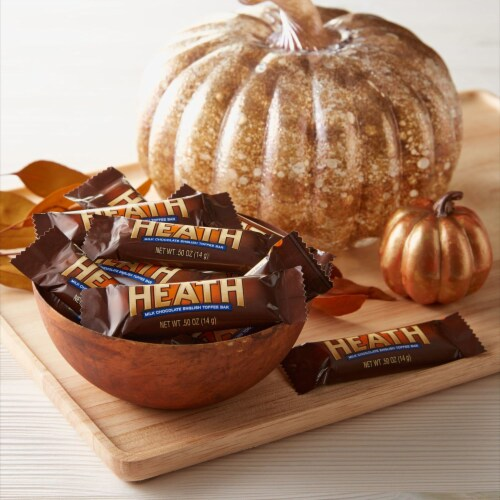 Heath Snack Size Toffee Bars Halloween Candy Perspective: top