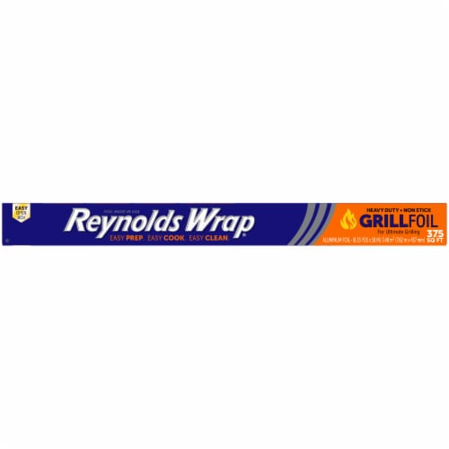 Reynolds Wrap Grill Heavy Duty Non-Stick Aluminum Foil Perspective: top