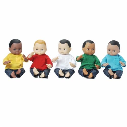 Marvel Education Company Multi-Ethnic School Dolls Set - 10 Pack Perspective: top