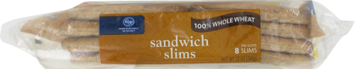 Kroger® 100% Whole Wheat Sandwich Slims 8 Count Perspective: top