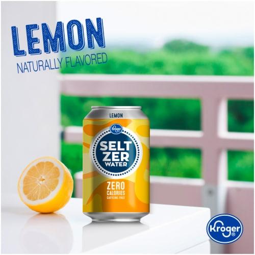 Kroger® Lemon Seltzer Water Perspective: top