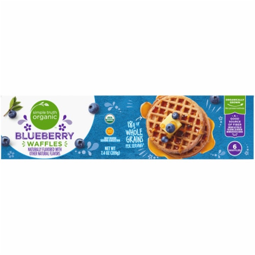 Simple Truth Organic™ Blueberry Waffles Perspective: top