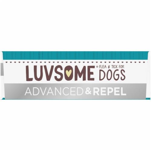 Luvsome Advanced + Repel Flea & Tick Drops for Dogs Perspective: top
