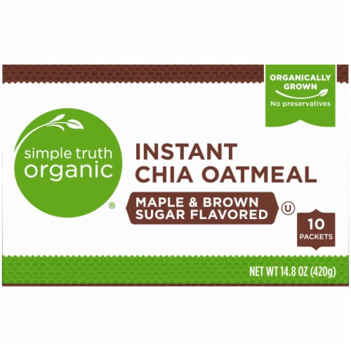 Simple Truth Organic® Instant Maple & Brown Sugar Flavored Chia Oatmeal Perspective: top