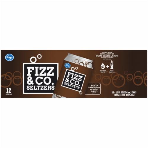 Kroger® Fizz & Co. Root Beer Flavored Seltzer Water Perspective: top