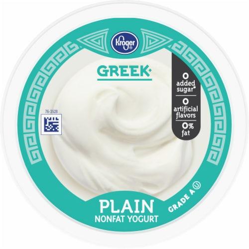 Kroger® Greek Plain Nonfat Yogurt Perspective: top