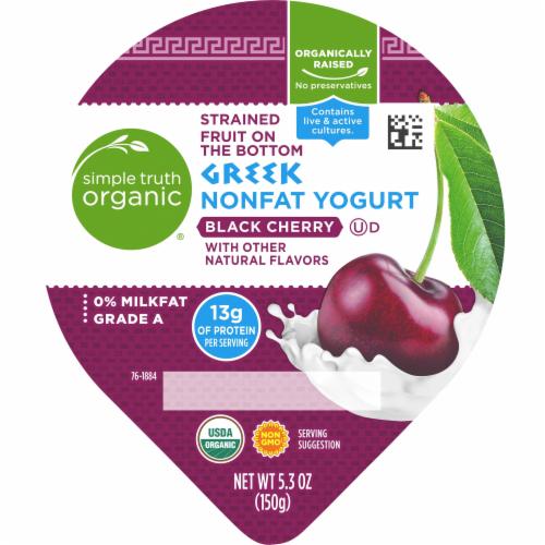 Simple Truth Organic® Strained Black Cherry Greek Nonfat Yogurt Perspective: top