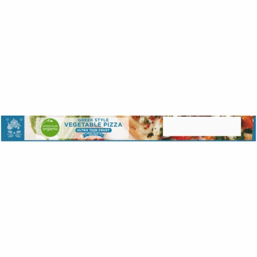 Simple Truth Organic® Ultra Thin Crust Greek Style Vegetable Pizza Perspective: top