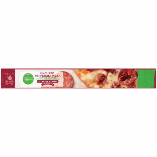 Simple Truth Organic® Uncured Pepperoni Ultra Thin Crust Pizza Box Perspective: top