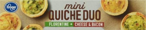 Kroger® Florentine Cheese & Bacon Mini Quiche Duo Perspective: top