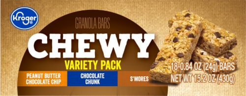 Kroger® Chewy Granola Bars Variety Pack Perspective: top