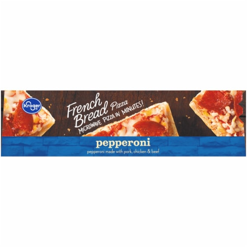 Kroger® Pepperoni French Bread Pizza Perspective: top