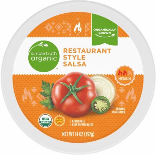 Simple Truth Organic™ Medium Restaurant Style Salsa Perspective: top