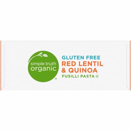 Simple Truth Organic® Gluten Free Red Lentil & Quinoa Fusilli Pasta Perspective: top