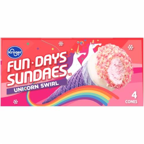 Kroger® Fun Days Sundaes™ Unicorn Swirl Sundae Cones Perspective: top