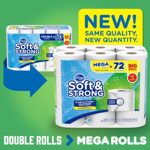 Kroger® Soft & Strong Bathroom Tissue Perspective: top